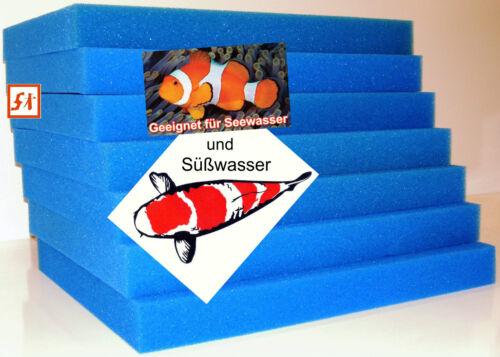 Filtermatte Filterschwamm Filterschaum 75 x 50 x 2 cm bis 75 x 50 x 15 cm Koi