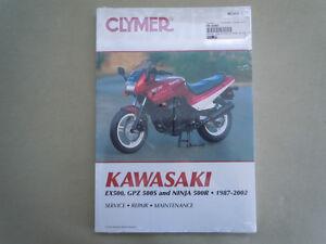Clymer-Manual-Kawasaki-EX500-GPZ500S-amp-Ninja-500R-1987-2002