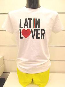 MOSCHINO-maglia-t-shirt-mare-uomo-cotone-A4905-bianco-tg-L-50