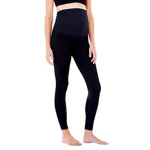 BeMaternity by Ingrid & Isabel Yoga Black Legging with Crossover Panel XXL