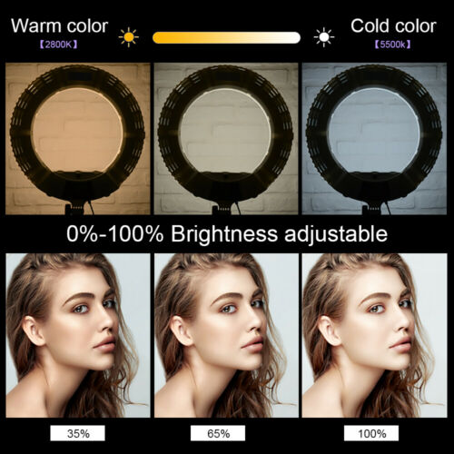 Yidoblo QS-480SII 18/'/' 96W Dimmable LED Ring Light Photography Photo Studio Lamp