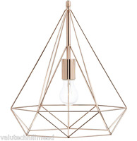 Dar Lighting sword 1 Light Geometric Pendant Copper Finish