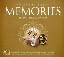 GREATEST EVER MEMORIES - BUDDY HOLLY, RAY CHARLES, PERRY COMO - 3 CD NEU