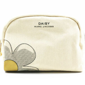MARC-JACOBS-Daisy-White-Makeup-Cosmetics-Bag-Brand-NEW