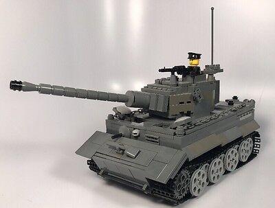 Lego ww2 Brickmania Custom Tiger 1 Brickarms Made With Real Lego(R)