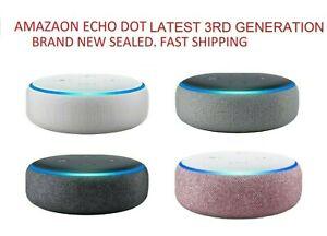 Amazon-Echo-Dot-3RD-Gen-Sandstone-Charcoal-Gray-Plum-NEW-SEALED