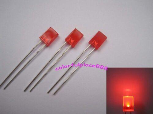 2x5x7mm Red Diffused Rectangle LED Rectangular Light Leds Red Lens New 1000pcs