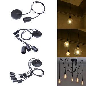 1 3 5 Heads Vintage Industrial Ceiling Edison Lamp Pendant