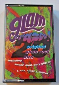 Cassette GLAM CRAZEE! 20 Original Glam Rock Hits 1990 Virgin SWEET Slade T. REX