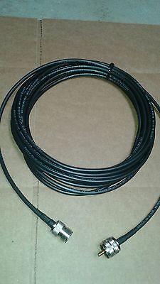 US MADE 50 ft  PL-259 UHF SO239 HAM CB VHF RF RG-58 Coax Antenna Cable
