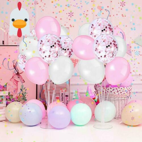 Sinwind 50 Piece Balloons Pink Confetti Balloons Pink and White for Wedding