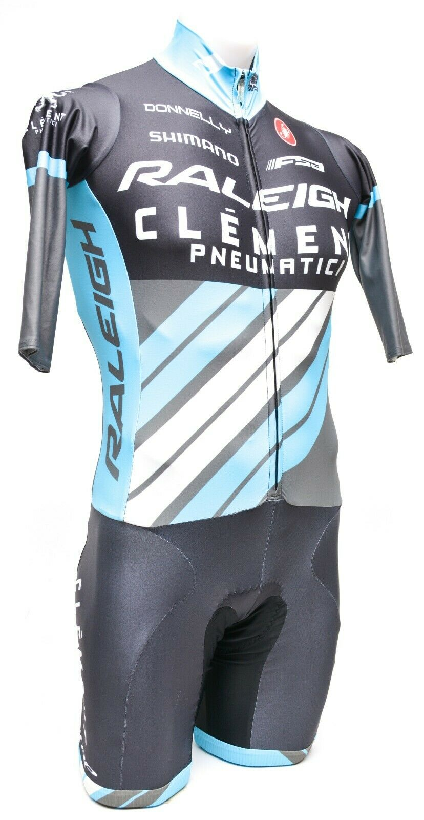 Castelli 34 Sleeve Skinsuit XS Raleigh Clement FSA Road Bike MTB Cyclocross
