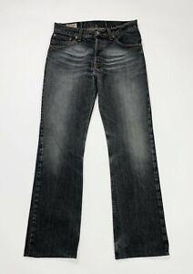 Keegan-425-jeans-uomo-usato-W32-tg-46-flare-bootcut-denim-grigio-boyfriend-T4981