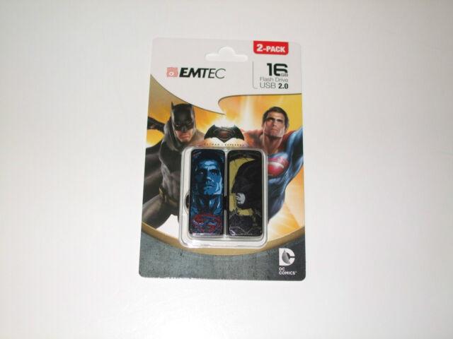 USB FlashDrive 2x 16GB EMTEC Batman VS Superman (2-Pack) Blister