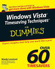 Windows Vista Timesaving Techniques For Dummies by Woody Leonhard (Paperback, 2007)