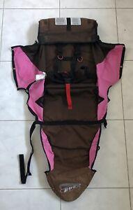 BOB-Revolution-Single-Jogger-Stroller-FABRIC-SEAT-Cloth-Brown-Pink-Used-2009