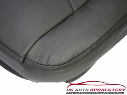 2003 To 2007 Chevy Silverado Driver Bottom Leather Seat Cover Dark Pewter Gray