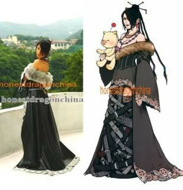 Final Fantasy LuLu Cosplay Costume Dress Custom Made F