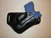 Glock 26 & 27 & 33 Formed Leather Sob, Owb Belt Holster, Rh, Ultra Slim Design