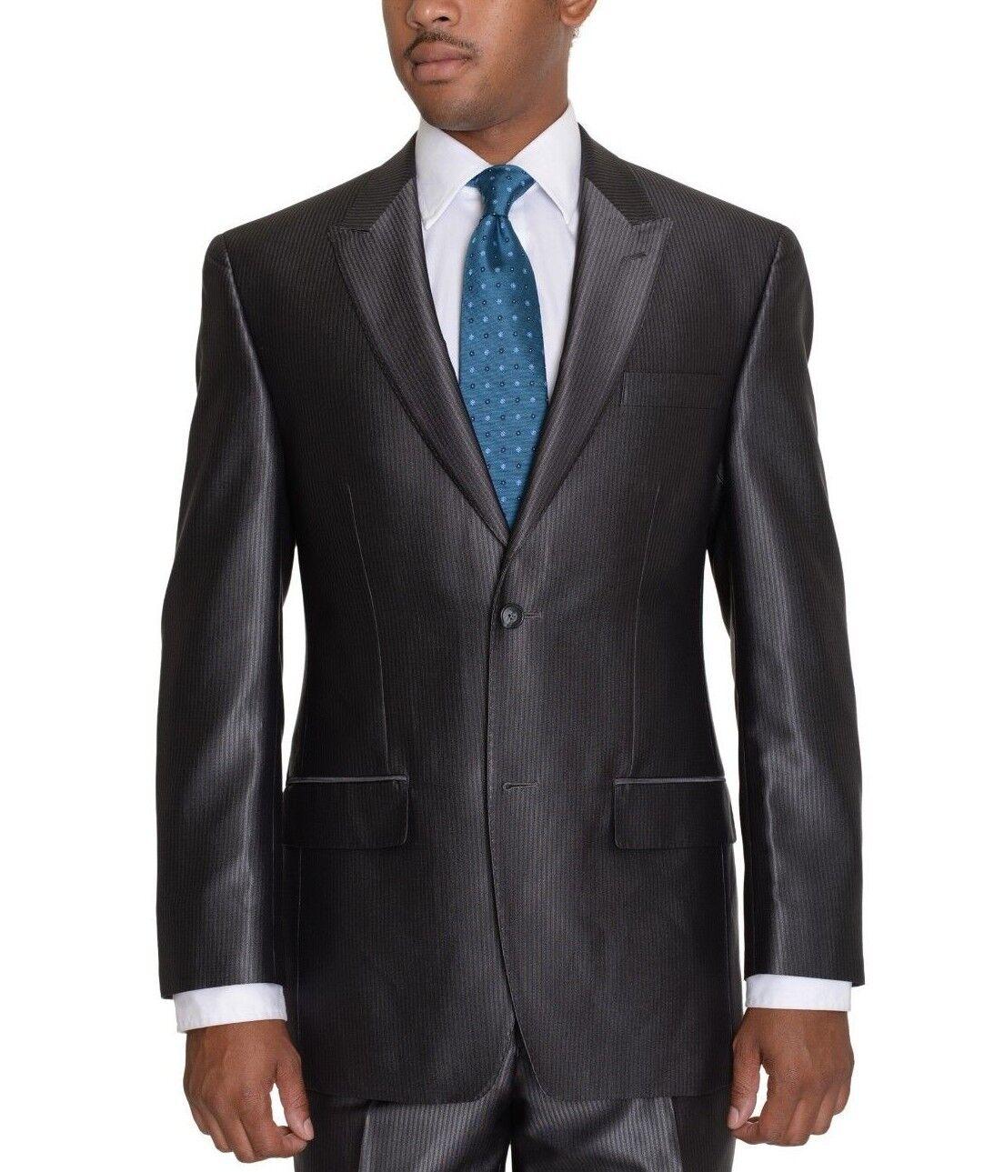 Sean John Classic Fit grau Striped Blazer With peak Lapels
