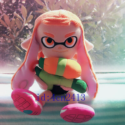 "Official Sanei Splatoon 9/"" Octolings Boy Doll Plush Toy Squid Blue Rare Gift"