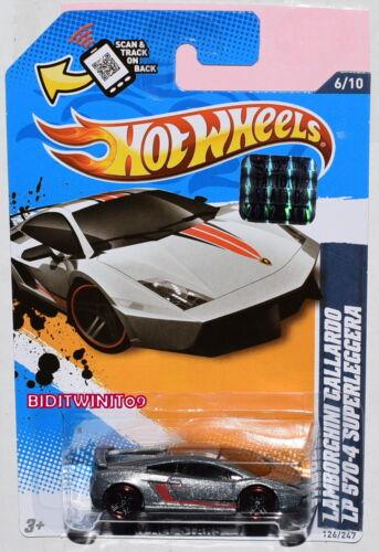 Hot Wheels 2012 Lamborghini Gallardo LP 570-4 Superleggera Grigio Sigillato