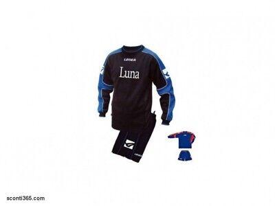 100% Vero Legea Kit Luna, Colore Blu/rosso- Maglia Maniche Lunghe+pantalonc. Art. Kitr004