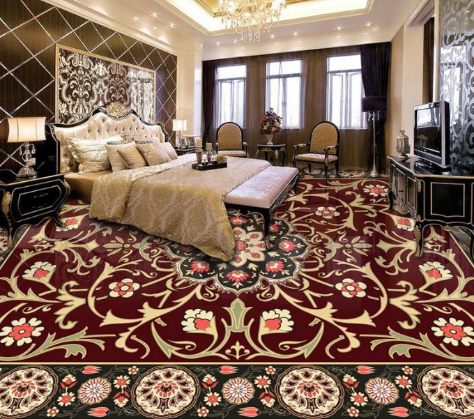 3D Pretty braun Floral 9 Floor WallPaper Murals Wall Print Decal AJ WALLPAPER US