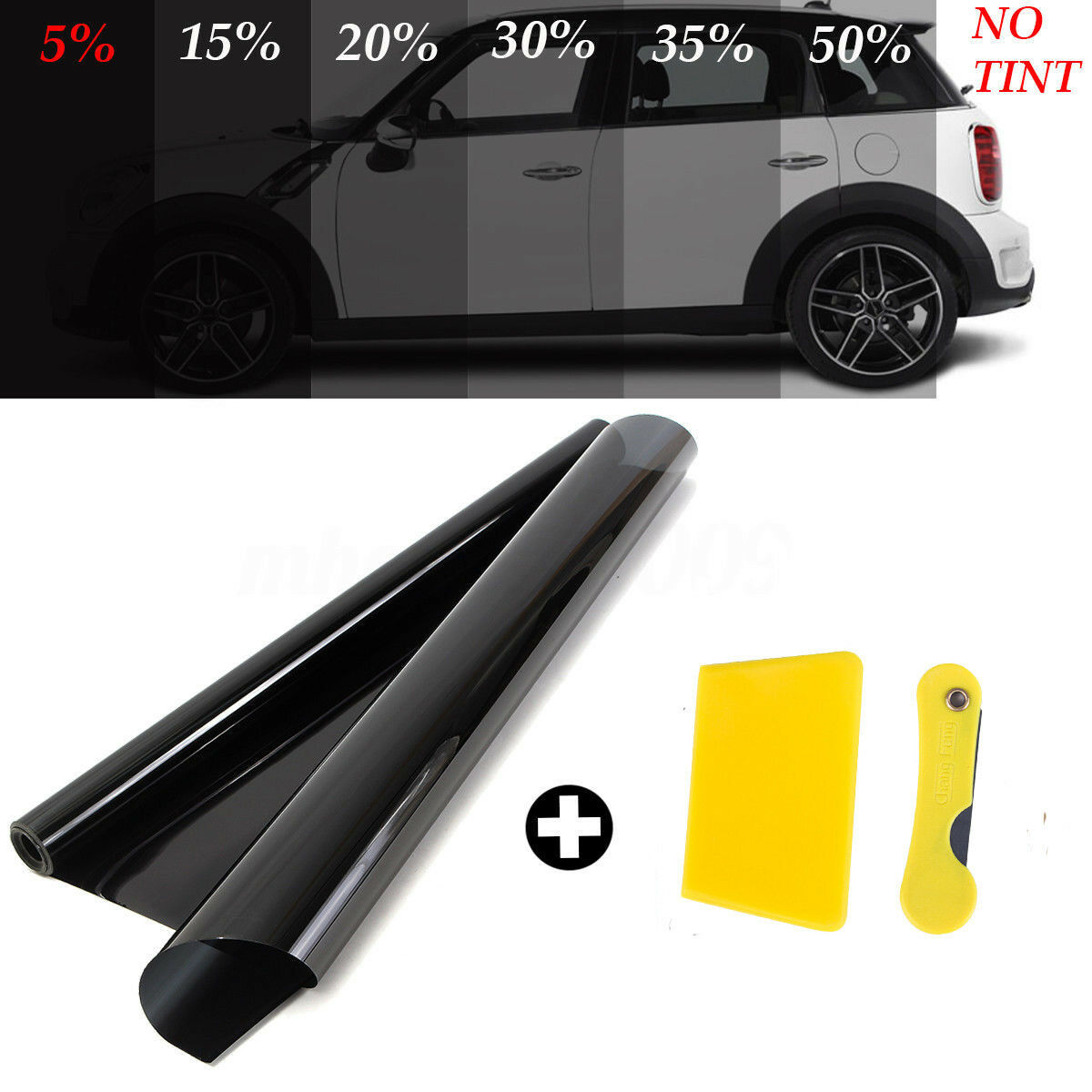 DARK SMOKE 15/% 6M x75CM 2 x ROLL 3M x 75CM CAR WINDOW TINT FILM TINTING