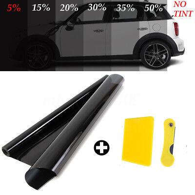 PRO LIMO BLACK 5/% CAR WINDOW TINT ROLL 2X 3M x 76CM FILM TINTING PRACTICAL UK