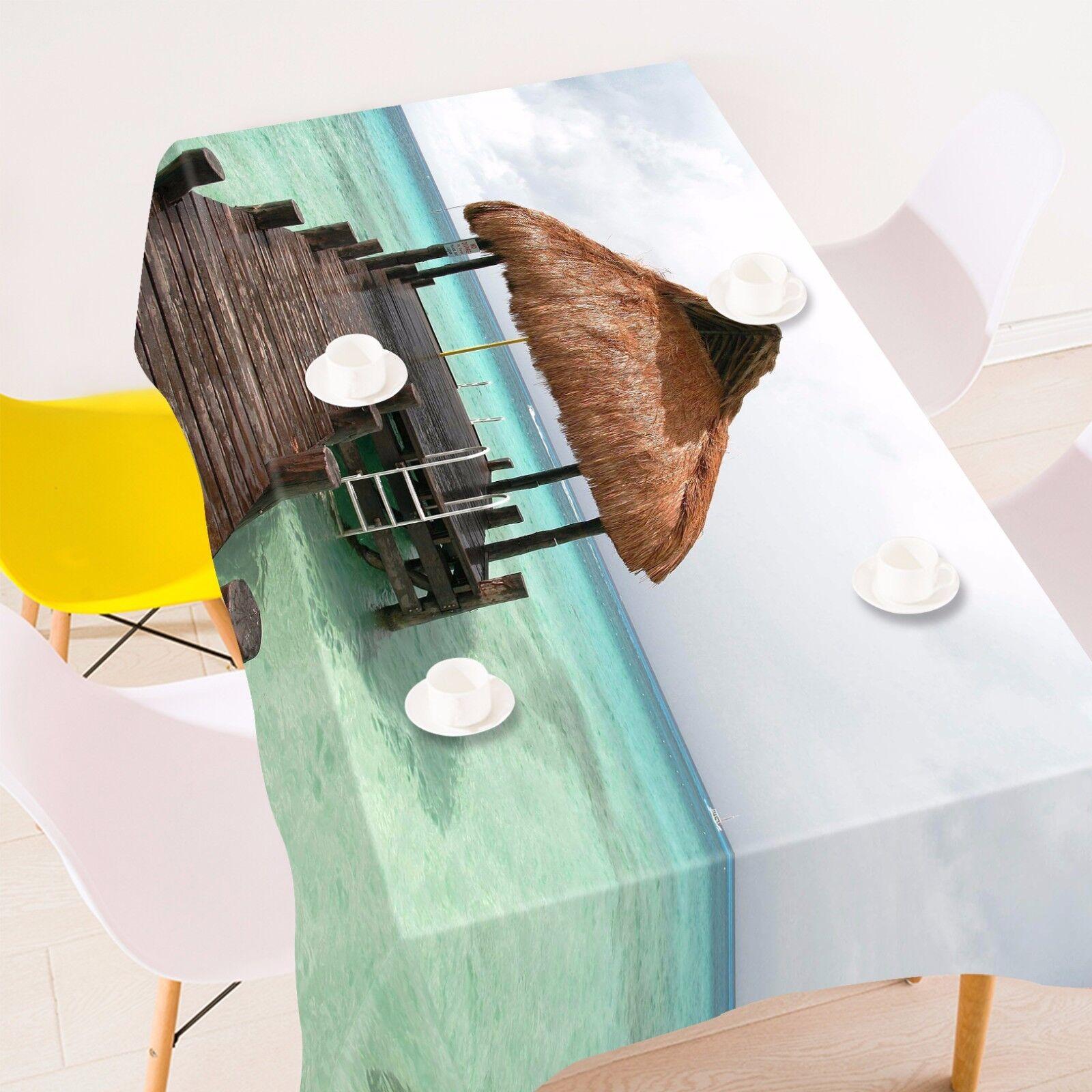 3D Ciel huttes Nappe Table Cover Cloth fête d'anniversaire AJ papier peint Royaume-Uni Citron