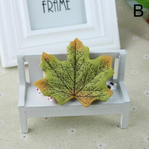 100pcs Artificial Autumn Maple Leaves Mixed Colored Maple Leaf Fake Leaves