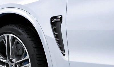 Original BMW M PERFORMANCE Zierstäbe Ziergitter F87 M2 schwarz Seite Kotflügel
