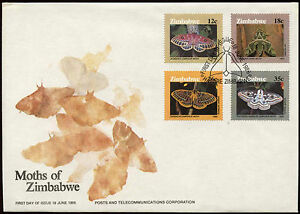 Zimbabwe 1986 Papillons Fdc First Day Cover #c14289 Ture 100% Garantie