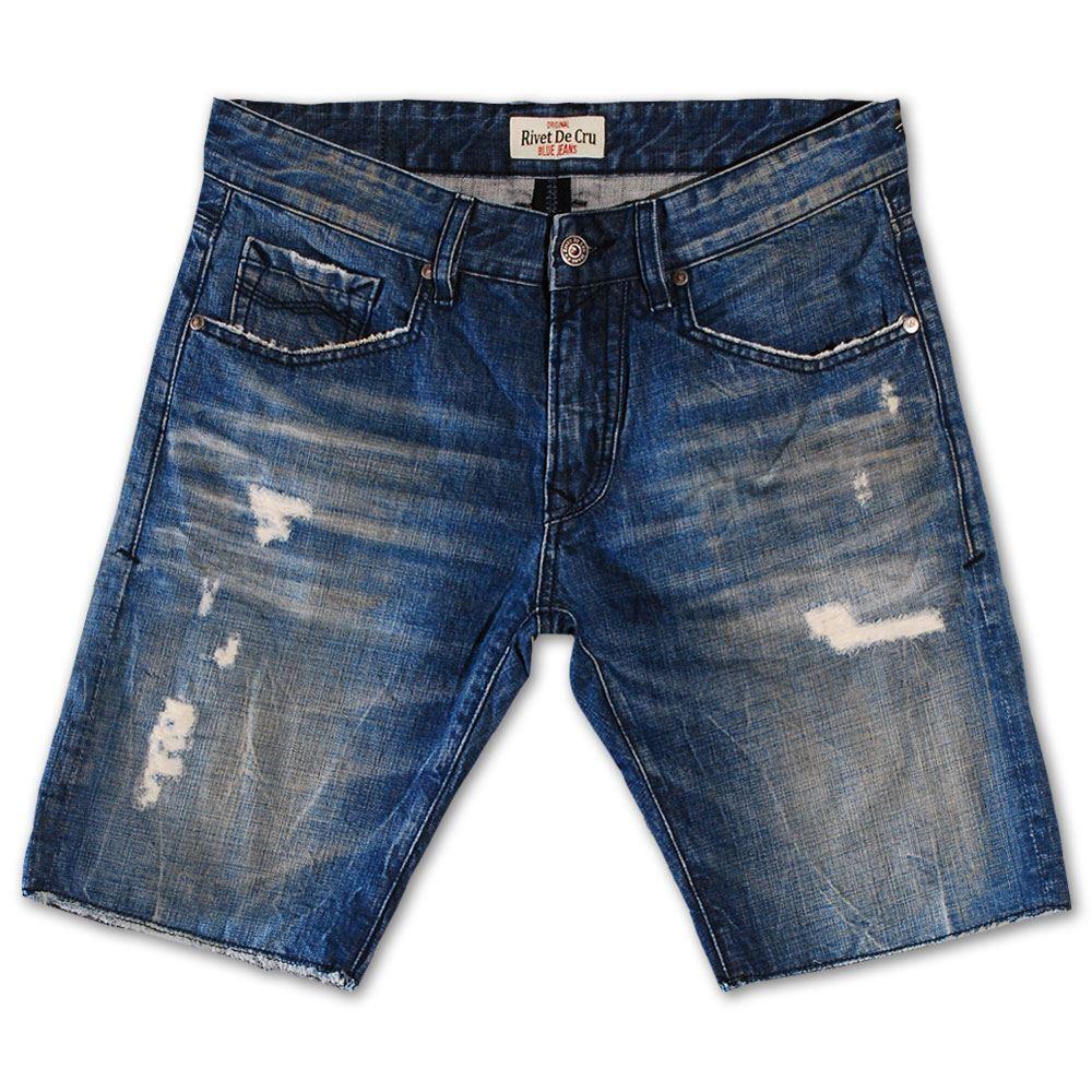 Rivet De Cru Crown bluee Denim Shorts