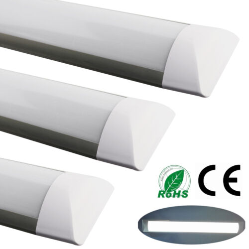 1-10x 4FT 36W LED Batten Tube Light Surface Mount Wall Ceiling Lamp Day White A
