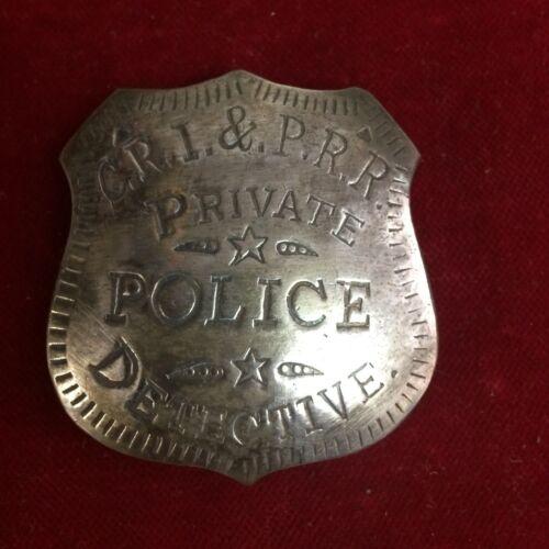 Rail Road Police Lawman Police Lawman Badge: C.R.I /& P.RR