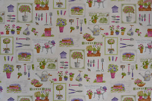 Gardening-Themed-Fabric-Quality-Upholstery-Curtain-Cotton-Fabric