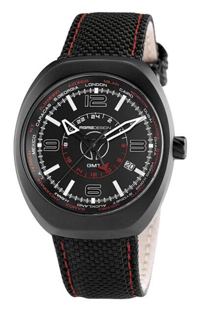 Momo Design Men's Sport 7001BK-13 42mm GMT Watch