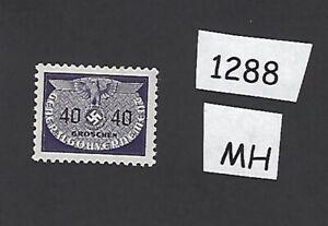 #1288 Mh 1940 40 G Timbre/swastika/occupied Poland/troisième Reich-afficher Le Titre D'origine