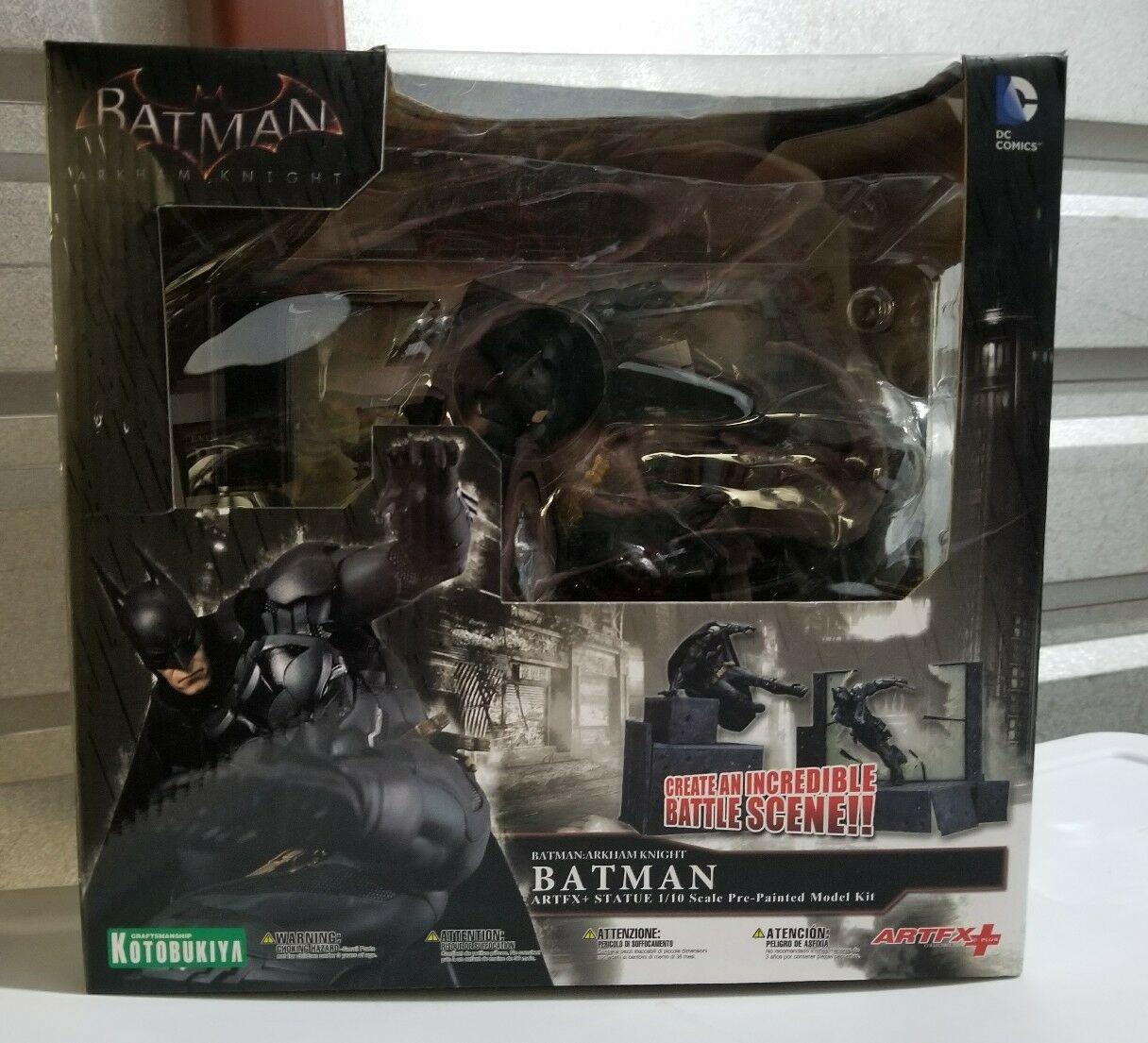 ARTFX KOTOBUKIYA Batman Arkham Knight scène de bataille