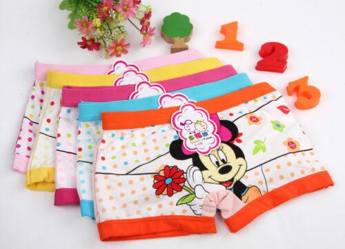 Lot 1Pcs New minnie Children cartoon girl cotton underwear Boxer shorts