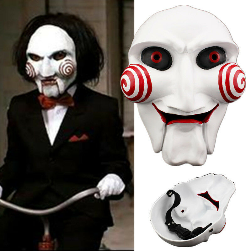 1pcs Scary Saw Jigsaw Masque Resin Mask Cosplay Halloween Party Horrible Props For Sale Online