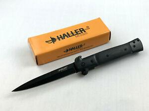 Haller-Stiletto-039-Dark-Knight-039-Messer-Taschenmesser-420-Stahl-Linerlock-83215
