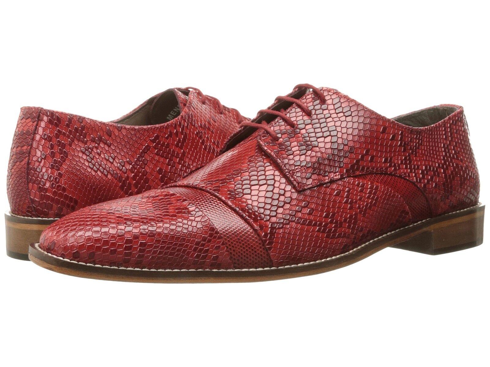 fornire un prodotto di qualità Stacy Adams Uomo RIZZO Cap toe oxford rosso rosso rosso Leather scarpe 25086-600  prezzi più bassi