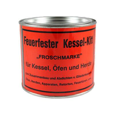 Kesselkitt Kessel Kit Ofenkitt Dichtungskitt Feuerfest Froschmarke 1000g 1kg NEU