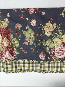 Details About Waverly Garden Room Purple Curtains Window Valance Valences Fl Plaid