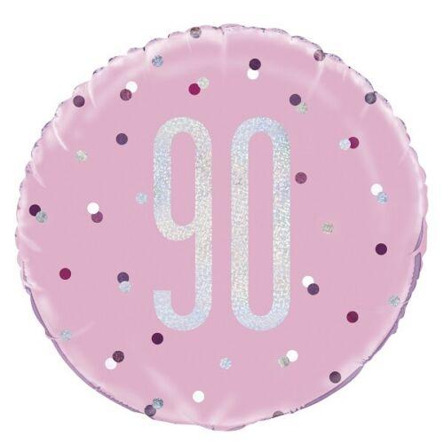 Black Glitz 90th Birthday Party Supplies Decorations Confetti Strings Napkins