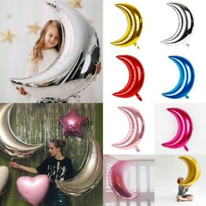 32/'/' Large Foil Helium Balloon Moon Shaped Birthday Wedding Party Decoration