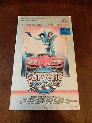 VHS Corvette Summer Mark Hamill OOP VHTF BIG BOX 1984